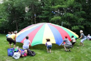 Church Picnic Parachute Game